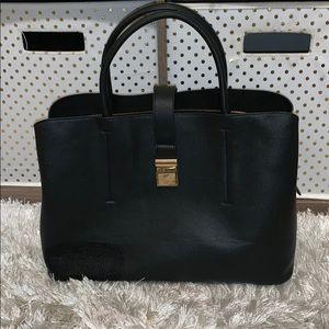 Black hand bag satchel